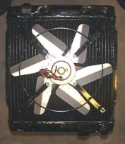 Mockup of fan on radiator